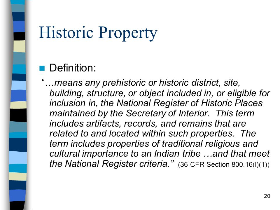 Historic Property Definition: