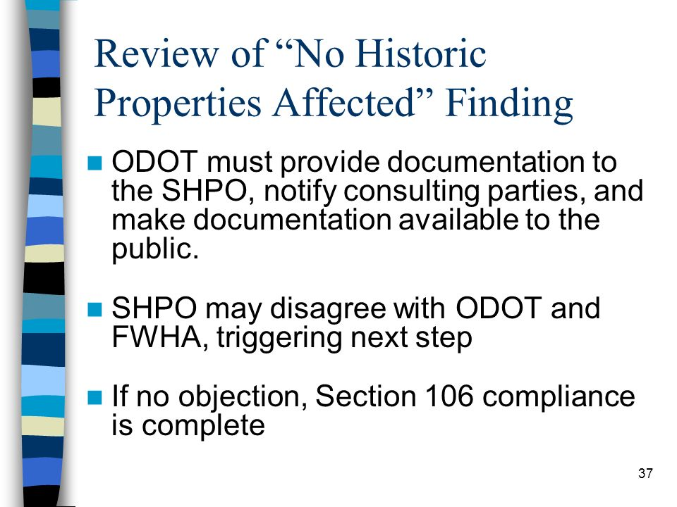 Review of No Historic Properties Affected Finding