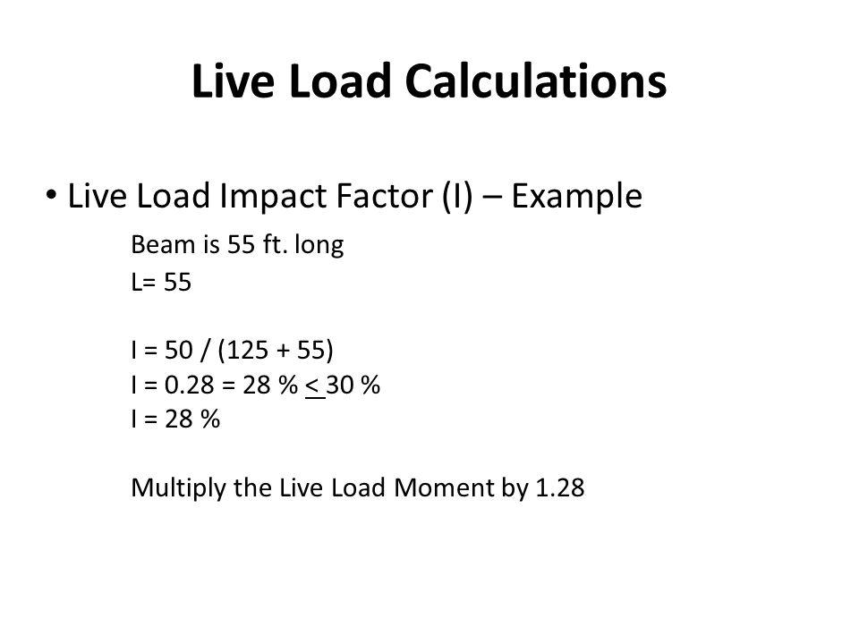 Live Load Calculations