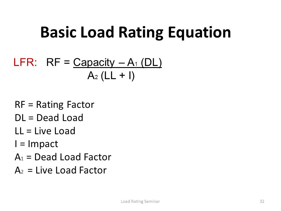 Basic Load Rating Equation