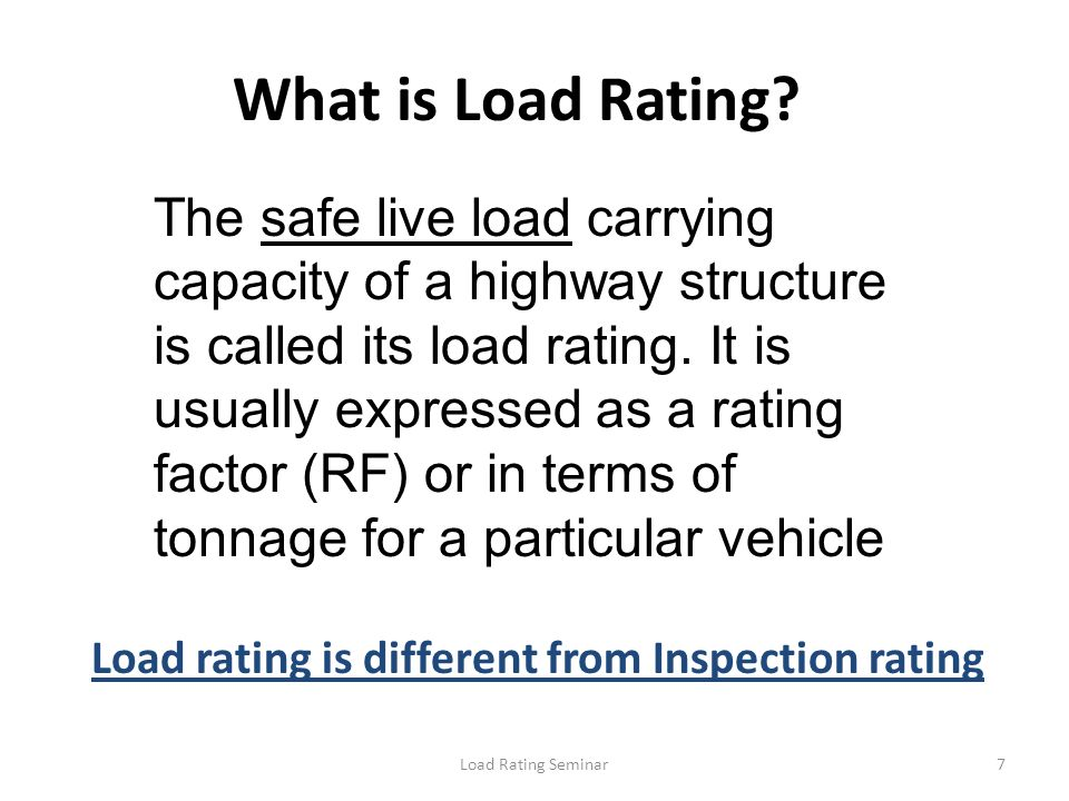 What is Load Rating