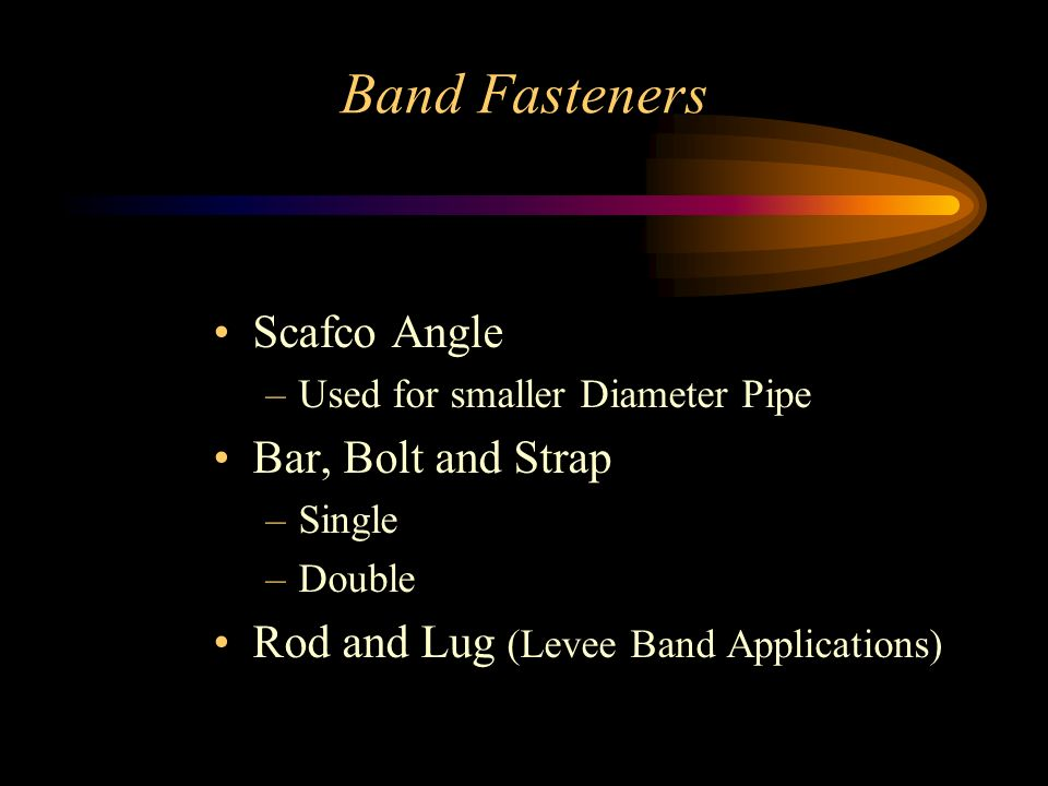 Band Fasteners Scafco Angle Bar, Bolt and Strap