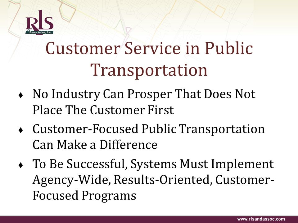 Customer Service in Public Transportation