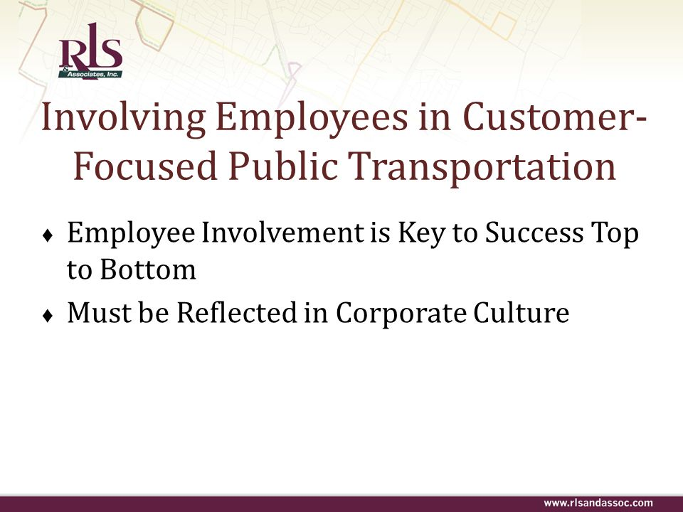 Involving Employees in Customer-Focused Public Transportation