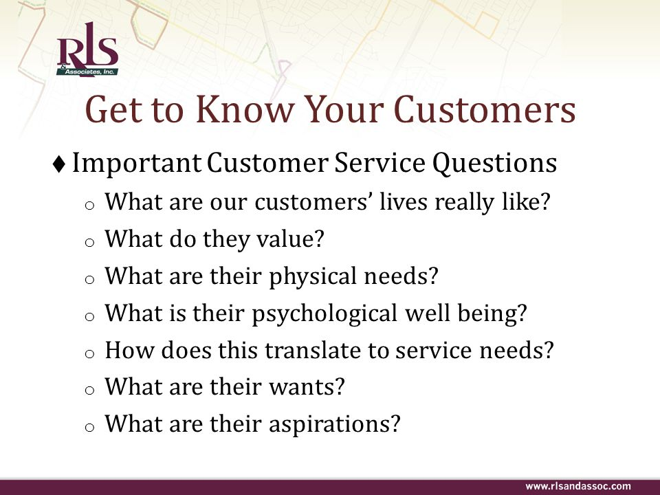 Get to Know Your Customers