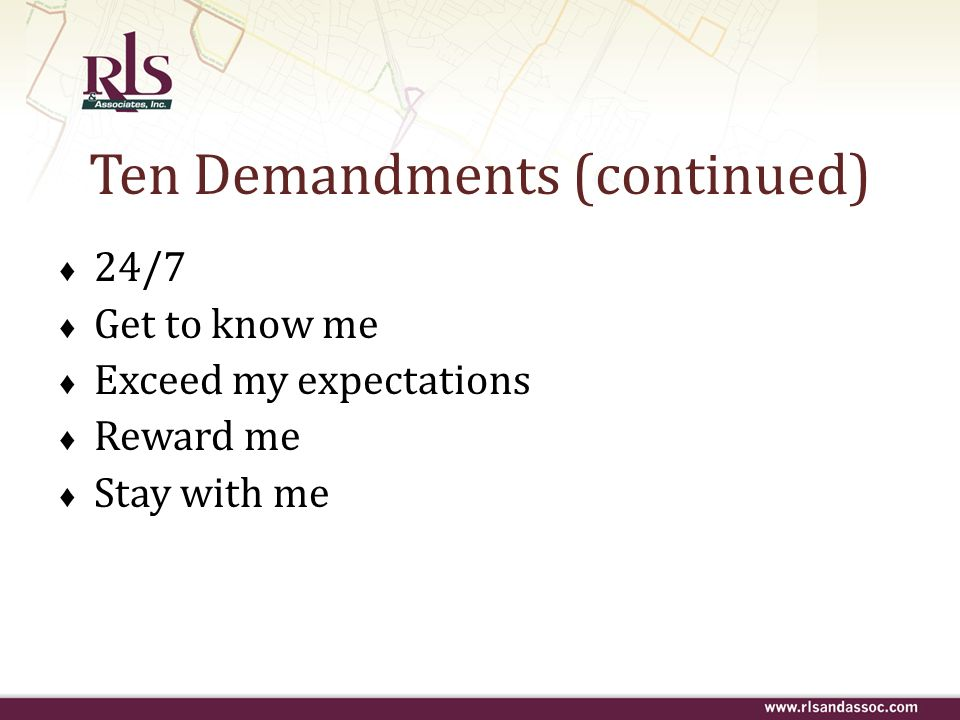 Ten Demandments (continued)