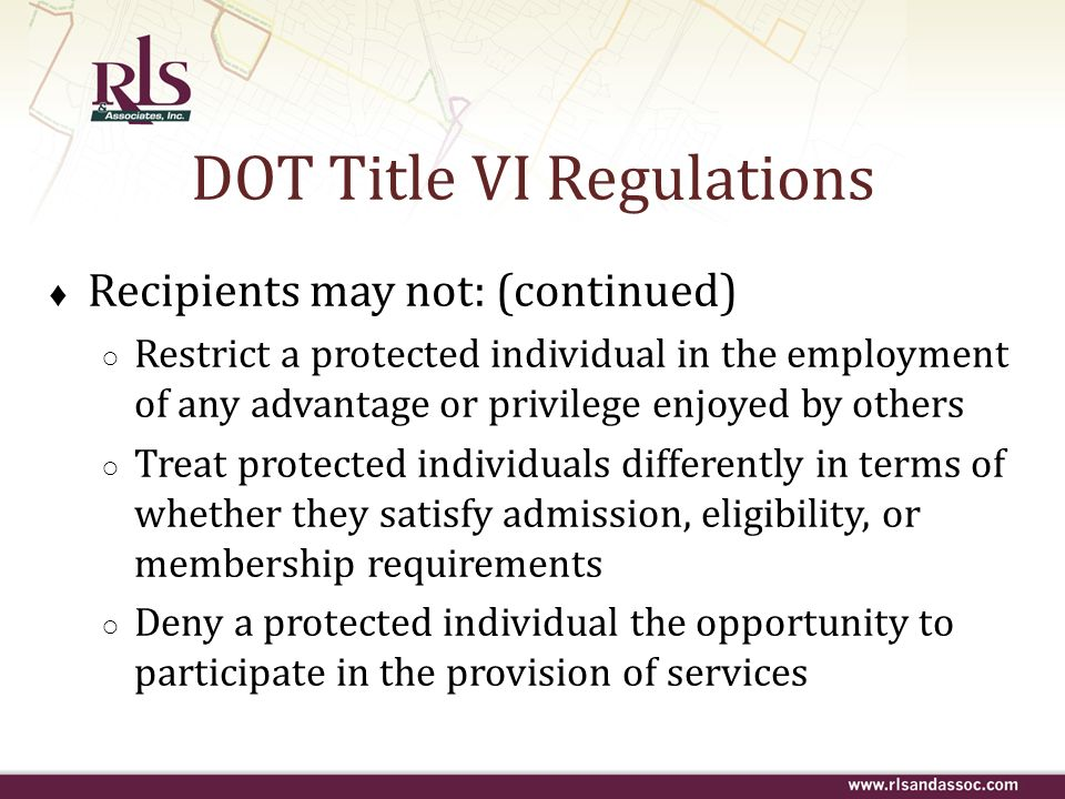 DOT Title VI Regulations