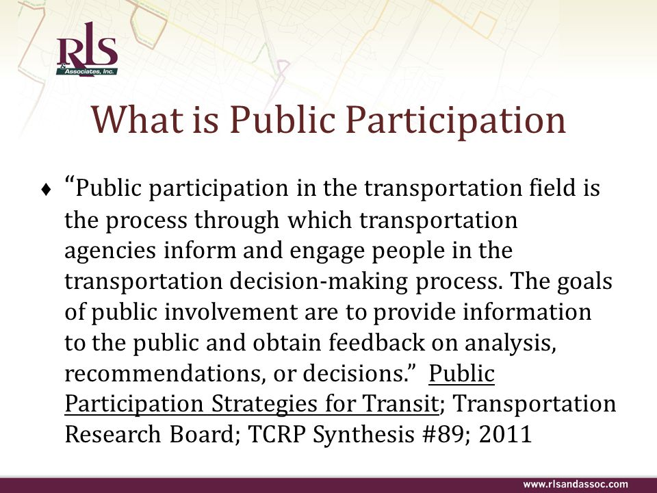 What is Public Participation