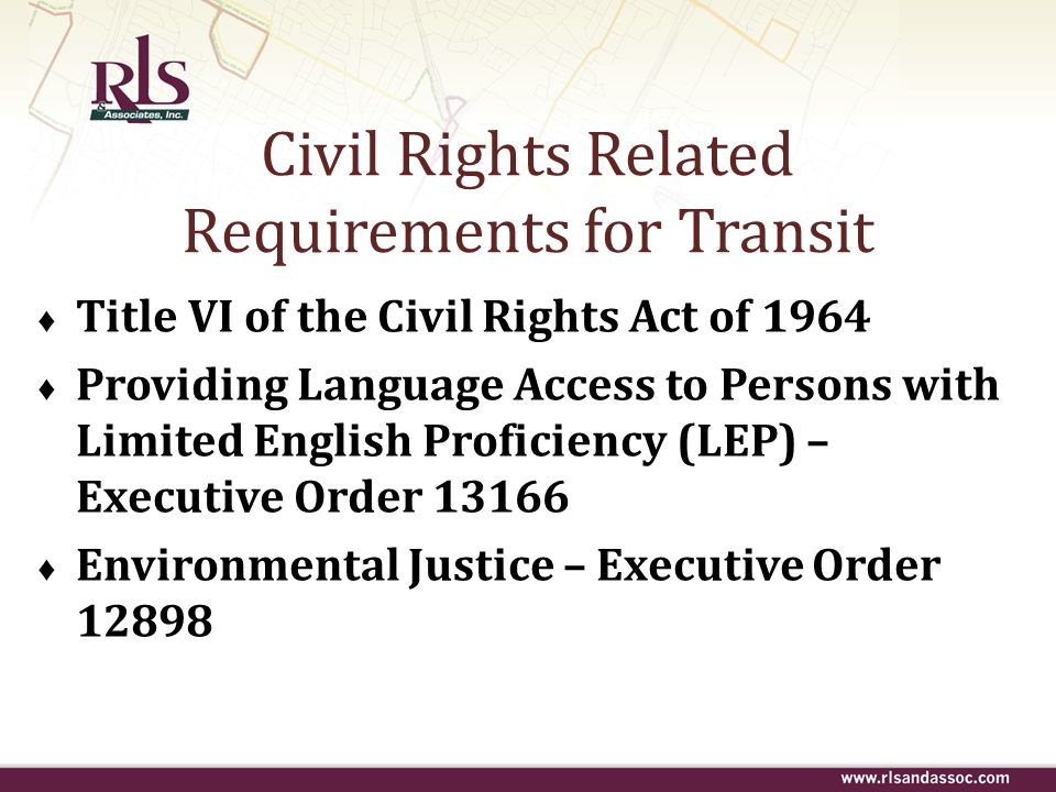 Civil Rights Related Requirements for Transit