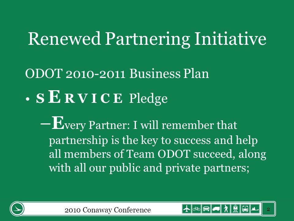 Renewed Partnering Initiative