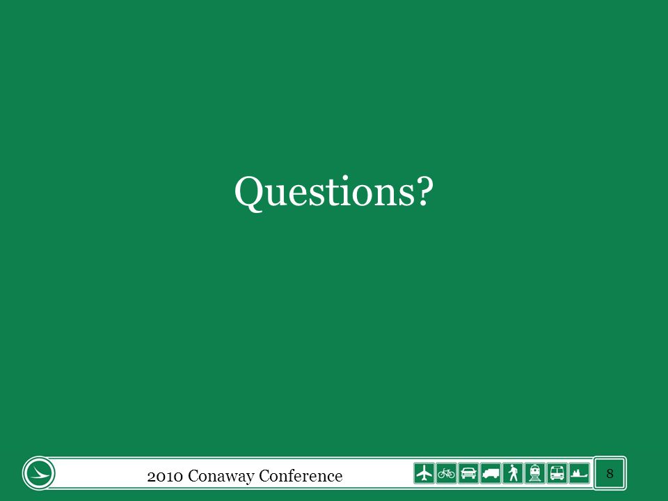 Questions 2010 Conaway Conference