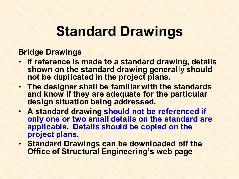 Standard Drawings Bridge Drawings