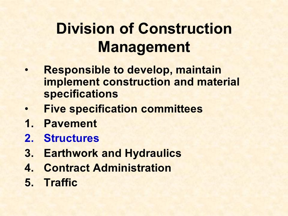 Division of Construction Management