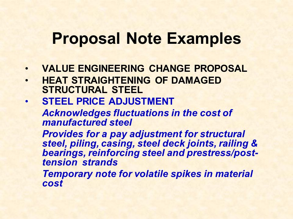 Proposal Note Examples