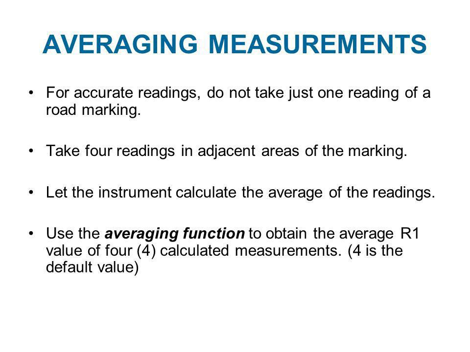 AVERAGING MEASUREMENTS
