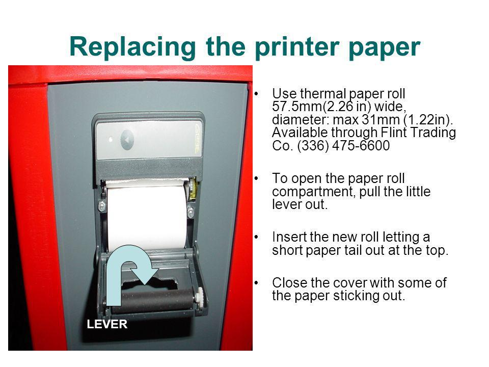 Replacing the printer paper
