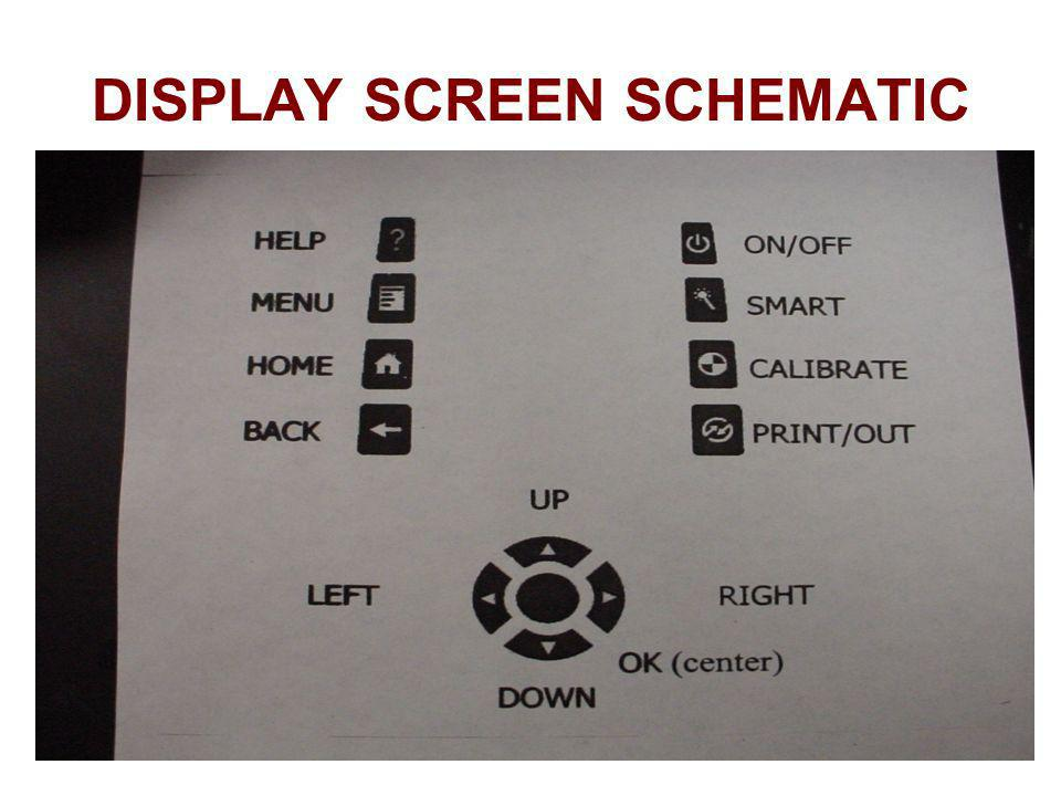 DISPLAY SCREEN SCHEMATIC