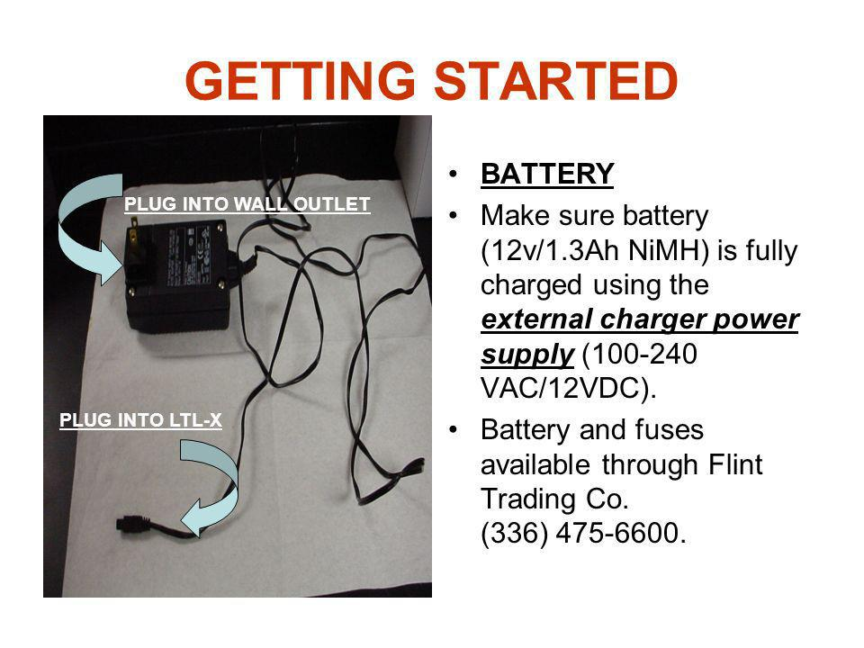 GETTING STARTED BATTERY