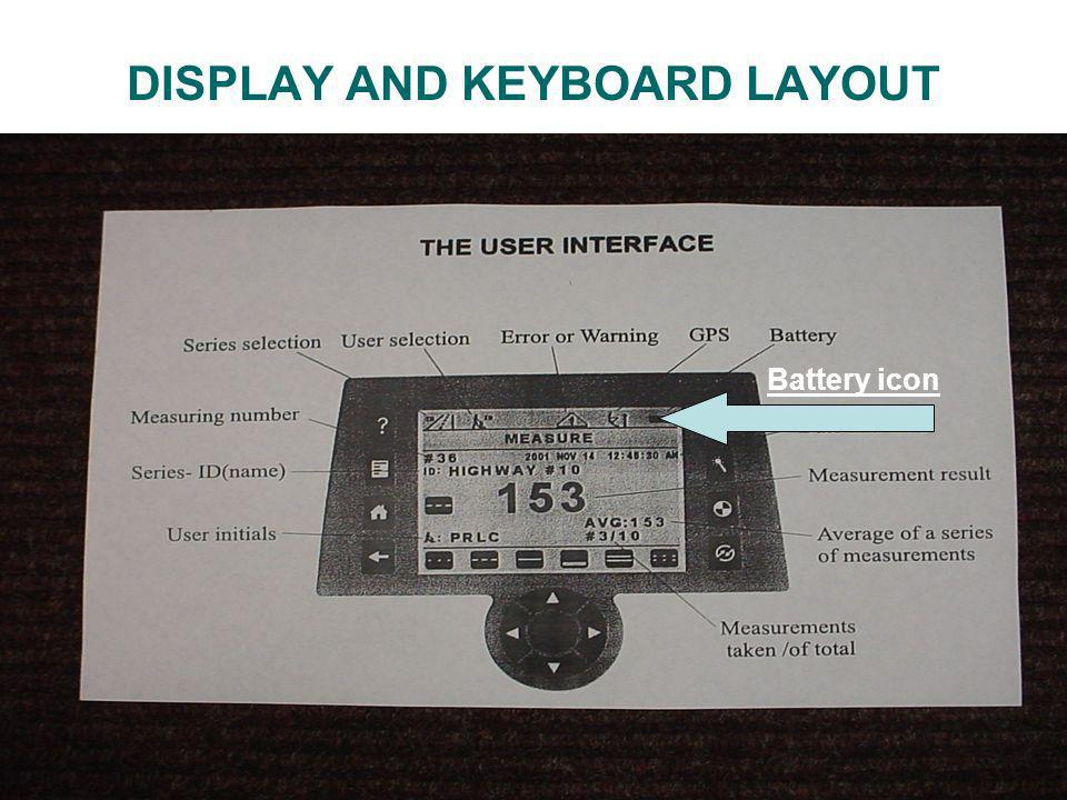DISPLAY AND KEYBOARD LAYOUT