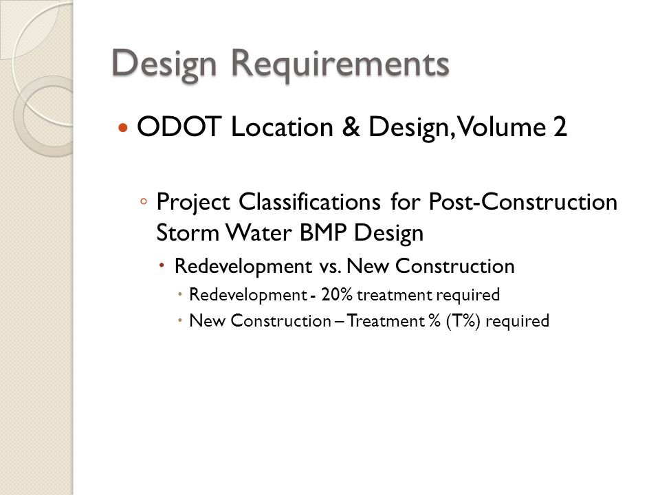 Design Requirements ODOT Location & Design, Volume 2
