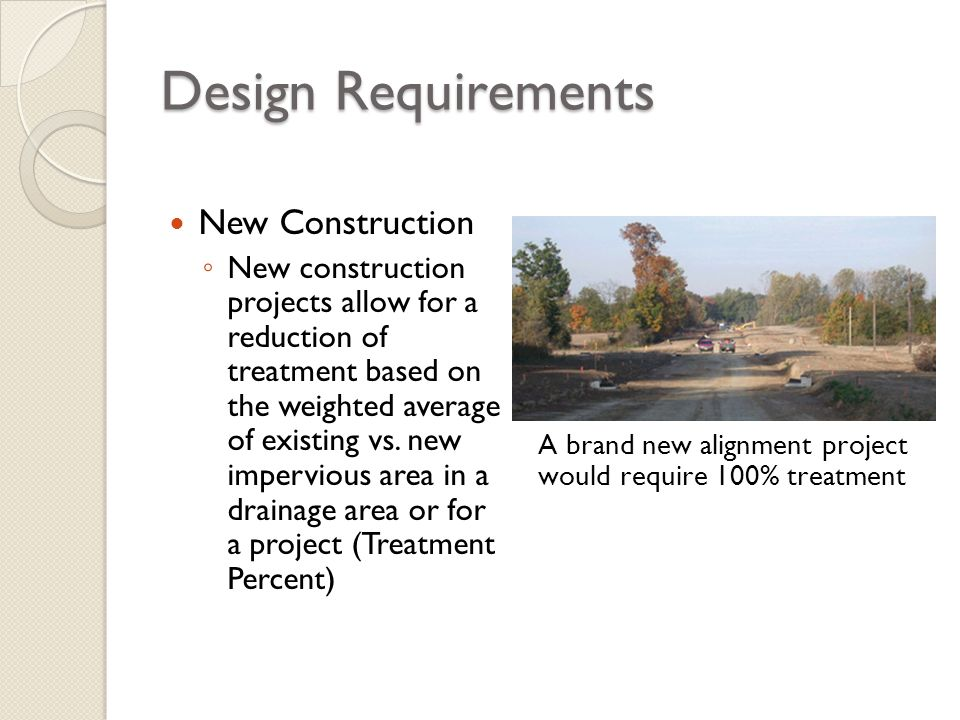 Design Requirements New Construction