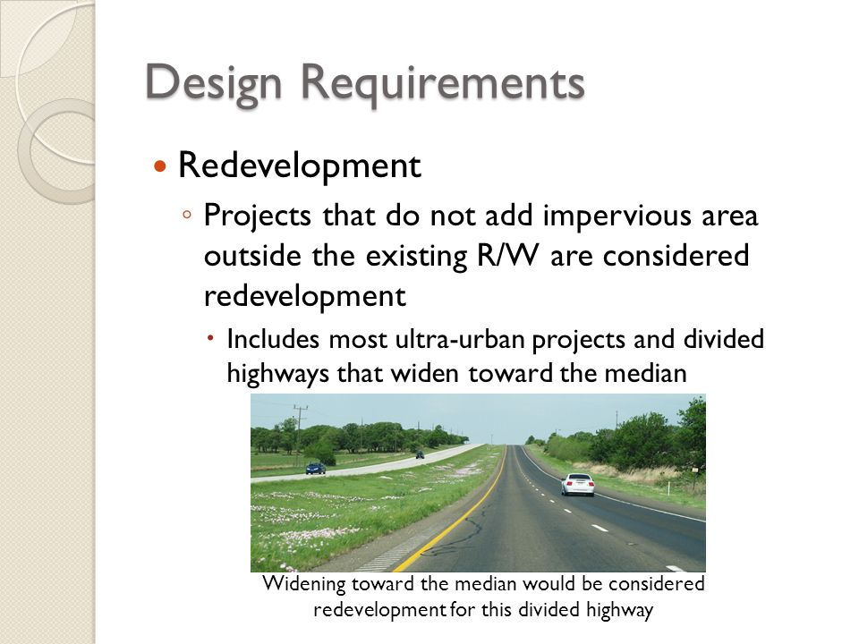Design Requirements Redevelopment