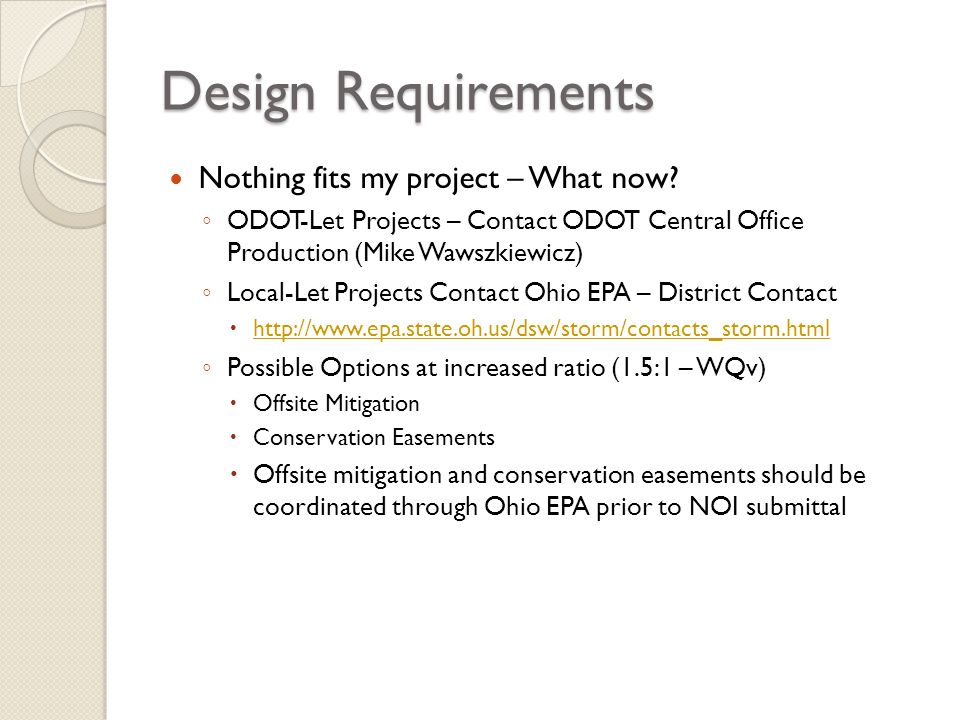 Design Requirements Nothing fits my project – What now
