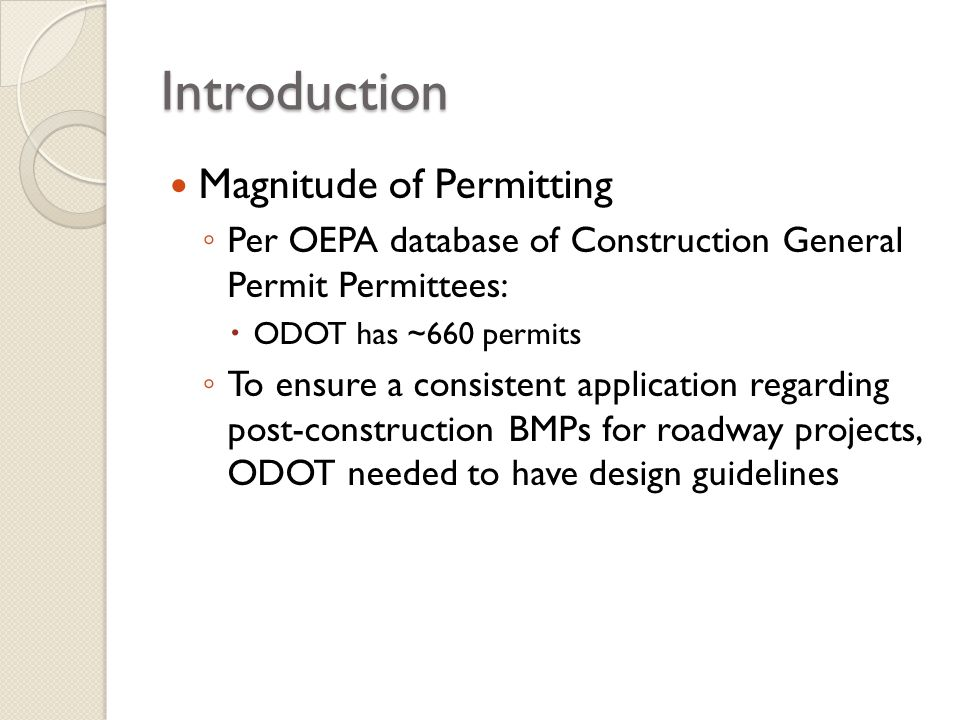 Introduction Magnitude of Permitting