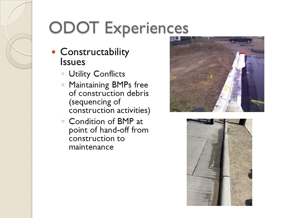 ODOT Experiences Constructability Issues Utility Conflicts