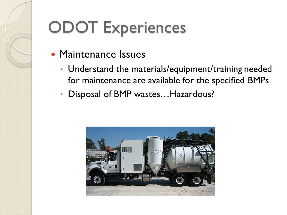 ODOT Experiences Maintenance Issues