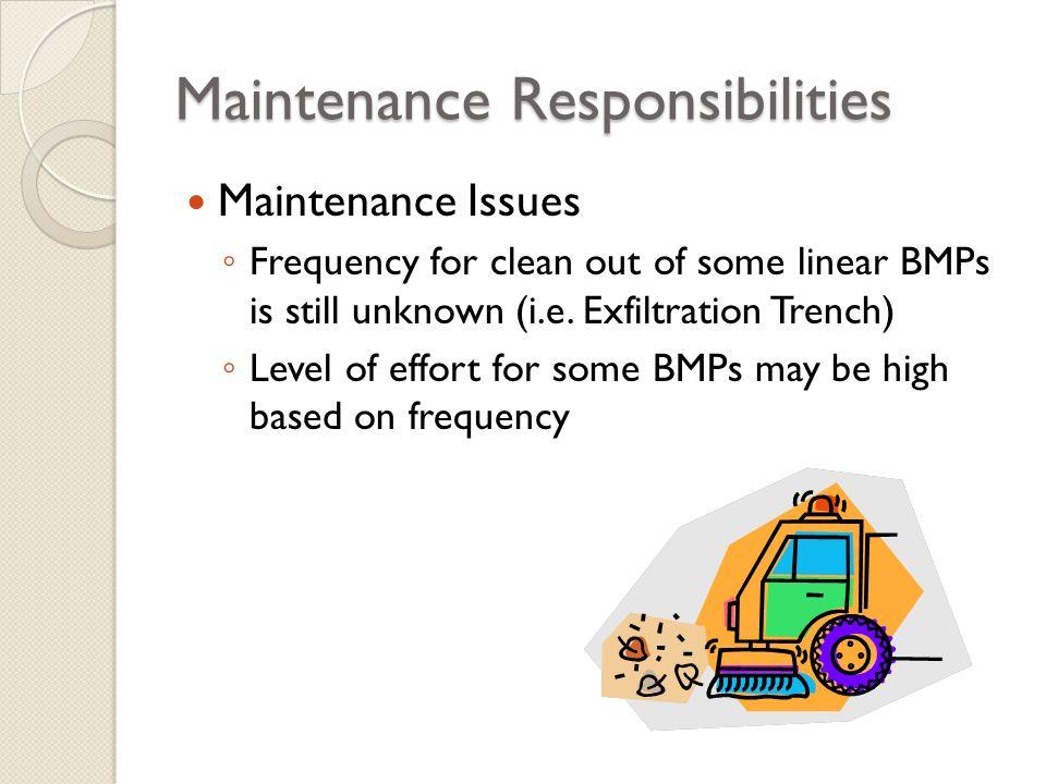 Maintenance Responsibilities