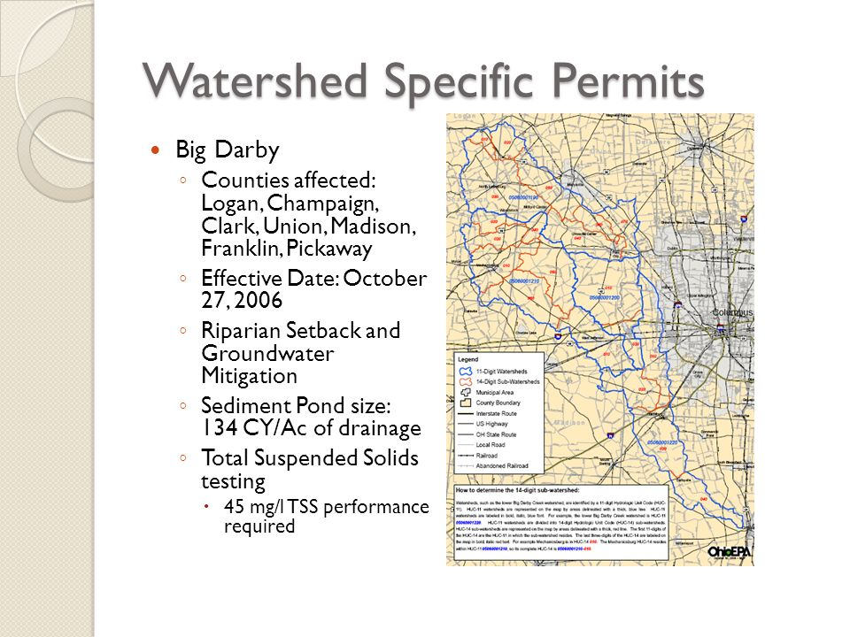 Watershed Specific Permits