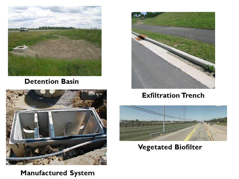Detention Basin Exfiltration Trench Vegetated Biofilter Manufactured System