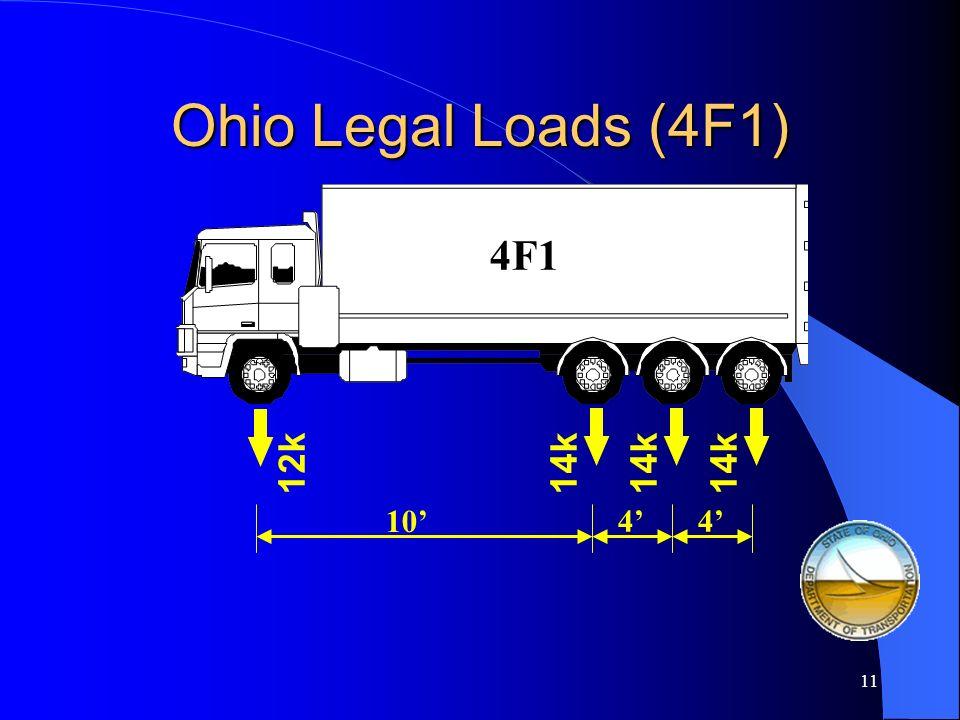 Ohio Legal Loads (4F1) 4F1 12k 14k 14k 14k 10' 4' 4'
