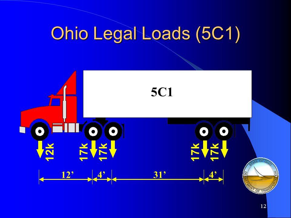 Ohio Legal Loads (5C1) 5C1 12k 17k 17k 17k 17k 12' 4' 31' 4'