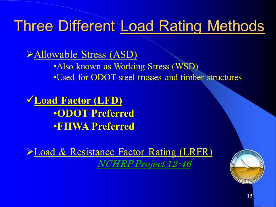 Three Different Load Rating Methods