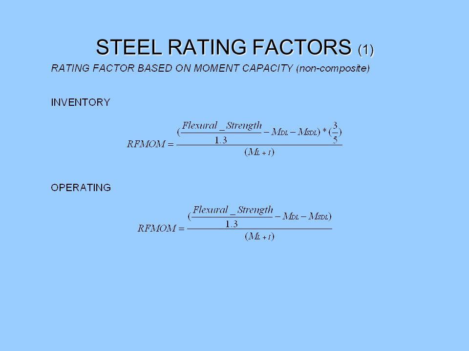 STEEL RATING FACTORS (1)