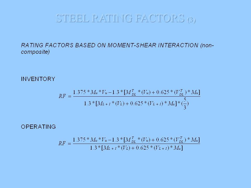 STEEL RATING FACTORS (3)