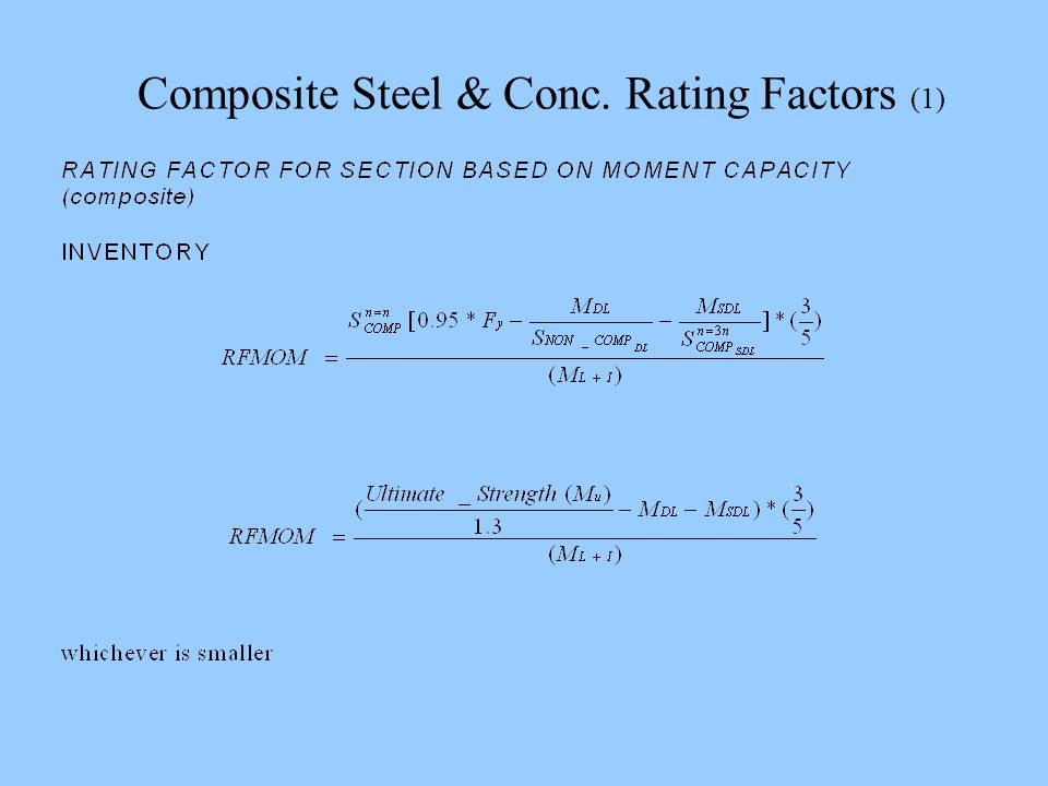 Composite Steel & Conc. Rating Factors (1)