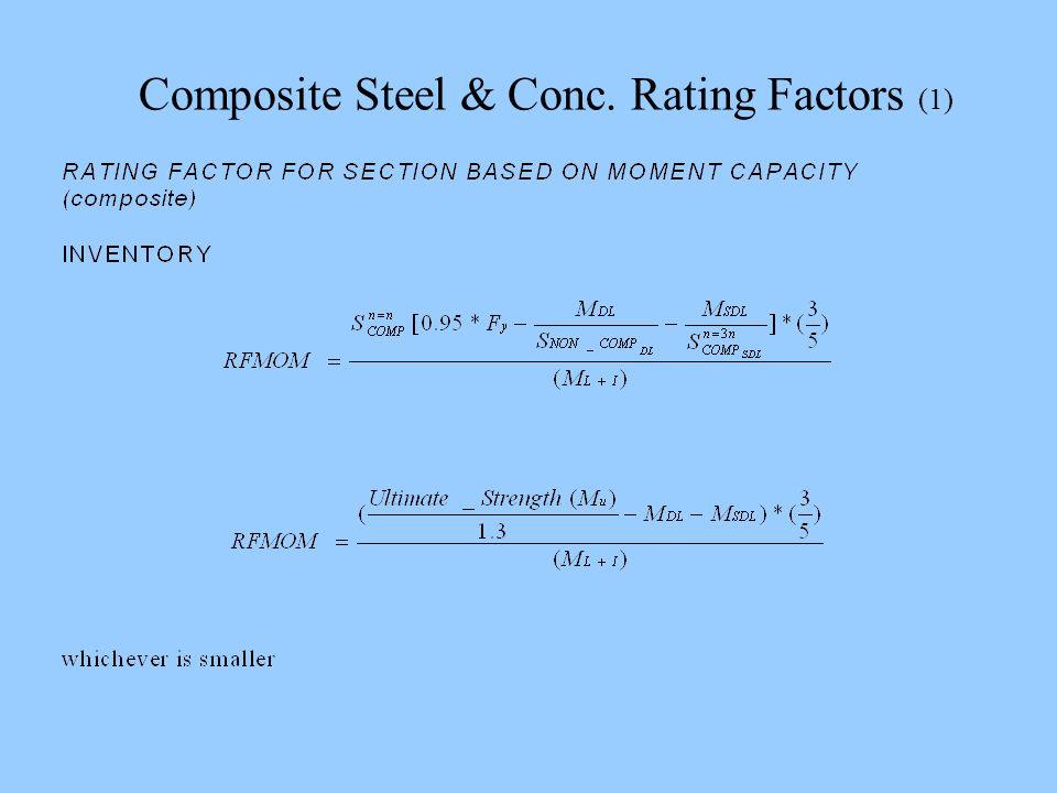 Composite Steel & Conc. Rating Factors (1)