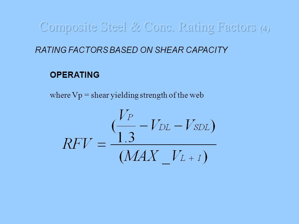 Composite Steel & Conc. Rating Factors (4)