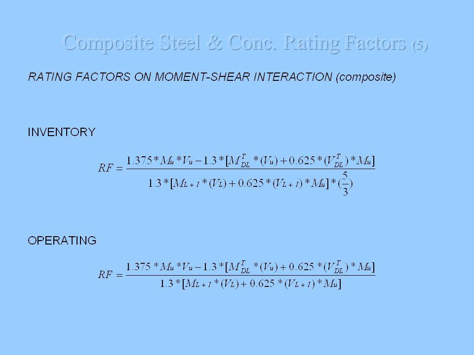 Composite Steel & Conc. Rating Factors (5)