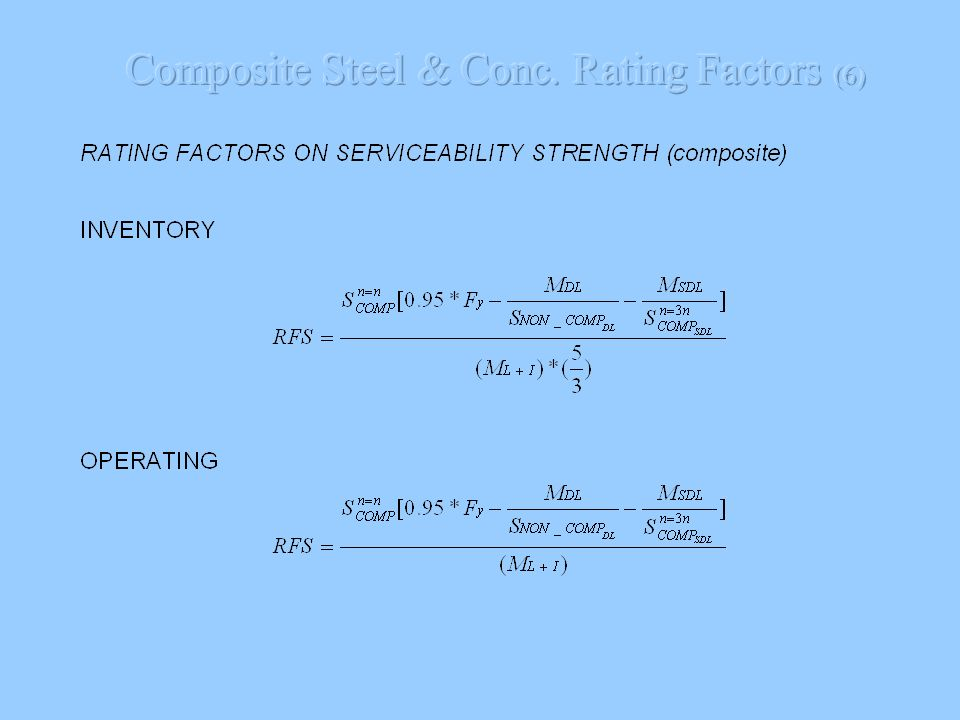 Composite Steel & Conc. Rating Factors (6)