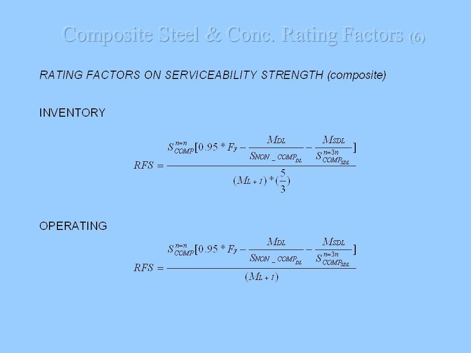 Composite Steel & Conc. Rating Factors (6)