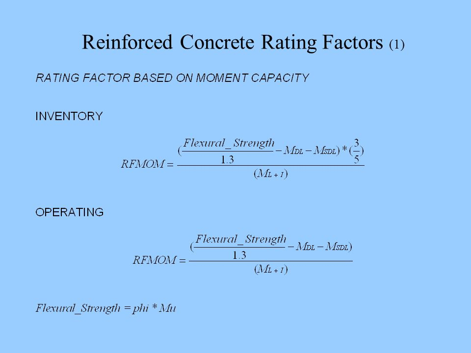 Reinforced Concrete Rating Factors (1)