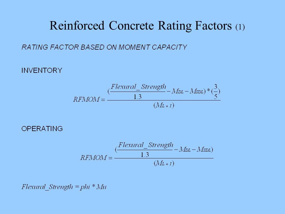 Reinforced Concrete Rating Factors (1)