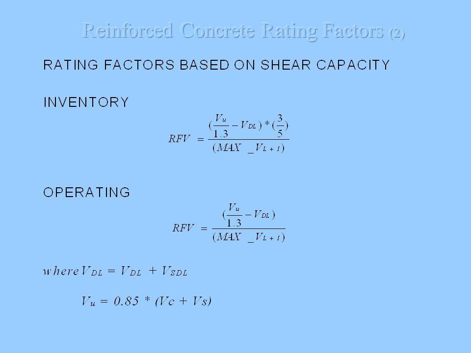 Reinforced Concrete Rating Factors (2)