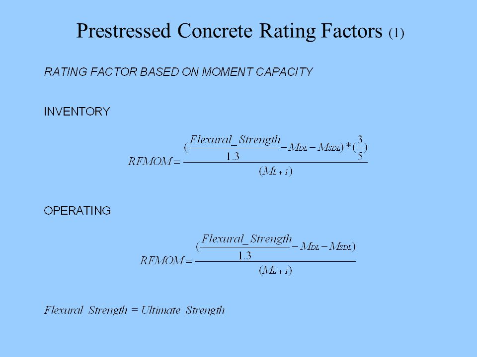 Prestressed Concrete Rating Factors (1)