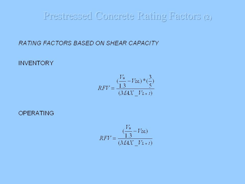 Prestressed Concrete Rating Factors (2)