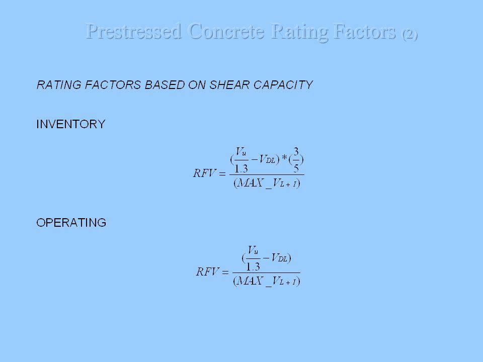 Prestressed Concrete Rating Factors (2)